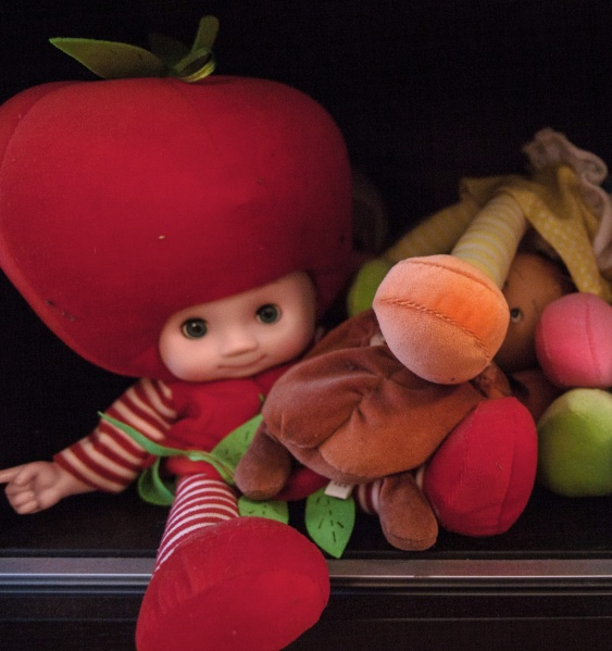"""Eclectically healthy"" dolls. (Photo by Emily Assiran)"