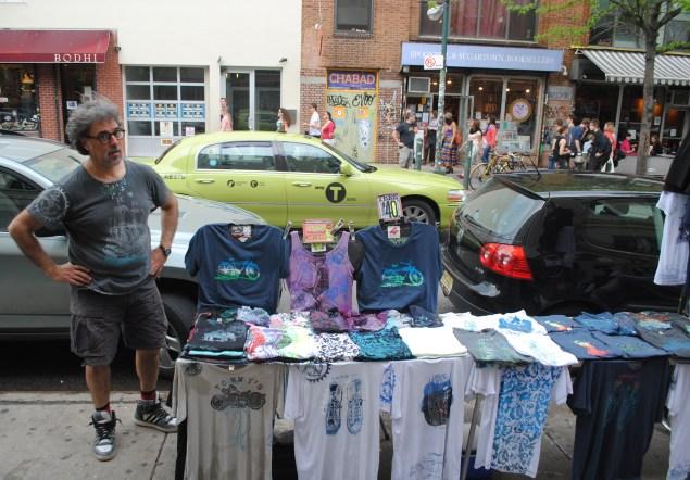 Street vendor Tom Hart says he's not going anywhere