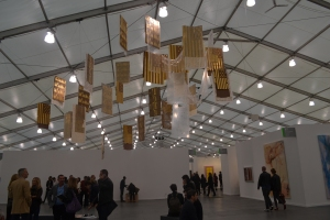 Danh Vo at Marian Goodman Gallery's booth at Frieze this year.