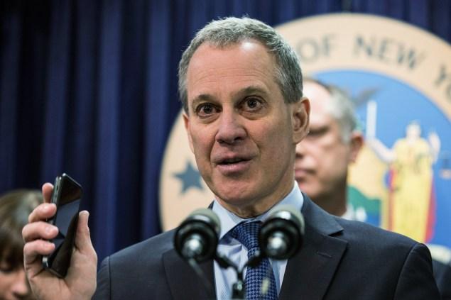 Attorney General Eric Schneiderman. (Photo: Andrew Burton/Getty)