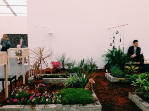 Ariel Reichman Garden installation at Pam Berlin's booth. (Photo by the Observer)