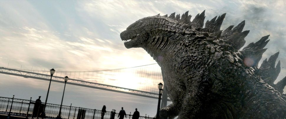 Godzilla towers over the