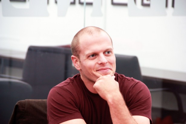 Tim Ferriss at the New York Observer's offices, November 2013. (Amanda Lea Perez)