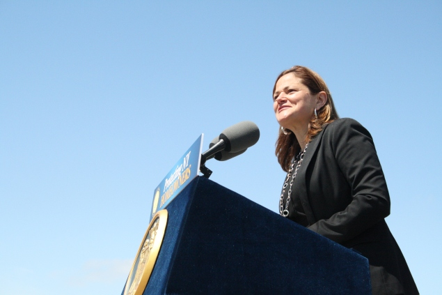 Council Speaker Melissa Mark-Viverito today. (Photo: Vanessa Ogle)