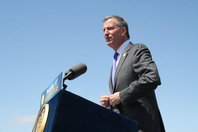 Mayor Bill de Blasio. (Photo: Vanessa Ogle)