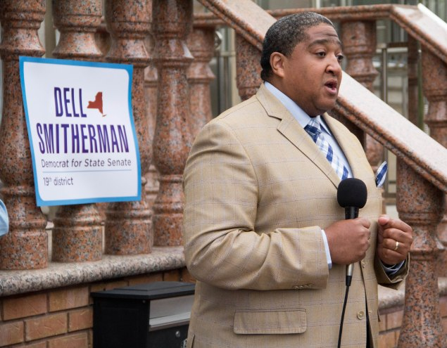 Dell Smitherman kicking off his campaign. (Photo: Smitherman Campaign)