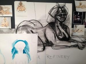Kara Walker, study, 2014. (Courtesy the artist/Creative Time)