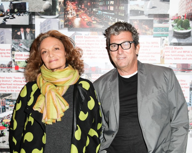 DIANE VON FURSTENBERG and ANDREW ROSEN co-Chair the Meatpacking District Improvement Association's first annual fundraiser OPEN MARKET at Highline Stages