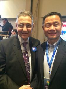 Speaker Shelly Silver and John Liu at the Democratic Convention. (Photo: Twitter John C. Liu- @LiuNewYork)