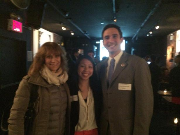 Ben Kallos with LaunchProgress PAC co-founder Poy Winichakul and Daily Show co-creator Lizz Winstead