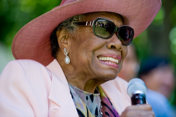 Dr. Angelou celebrating her birthday at a garden party in 2010. (Photo: Getty)