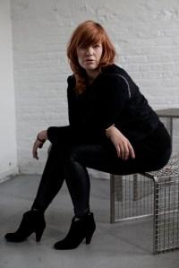 Henke on her bench. (Photo by Celeste Sloman for the Observer)