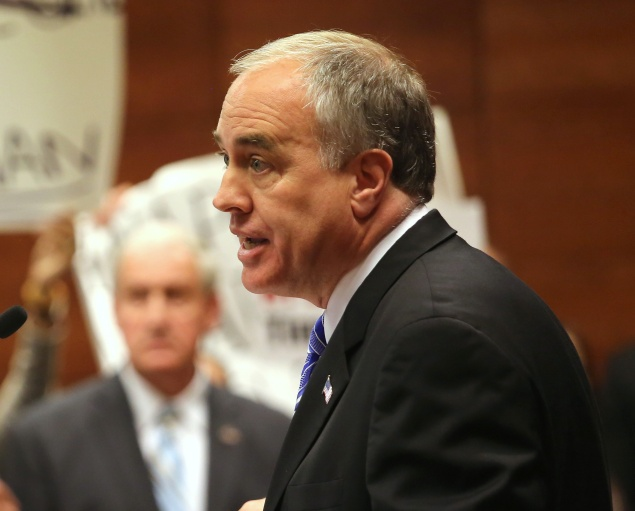 State Comptroller Thomas DiNapoli. (Photo by John Moore/Getty Images)