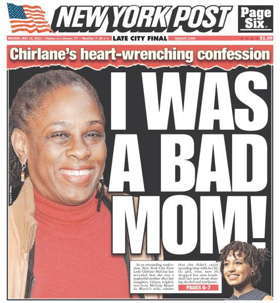 Monday's New York Post cover.