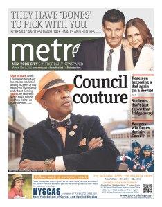 This morning's Metro. (Photo: Newseum)