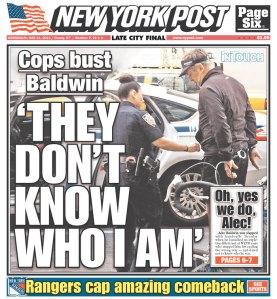 Today's New York Post. (Photo: Newseum)