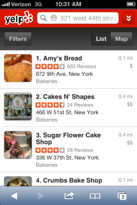 Now searching Yelp is a piece of cake (Yelp).