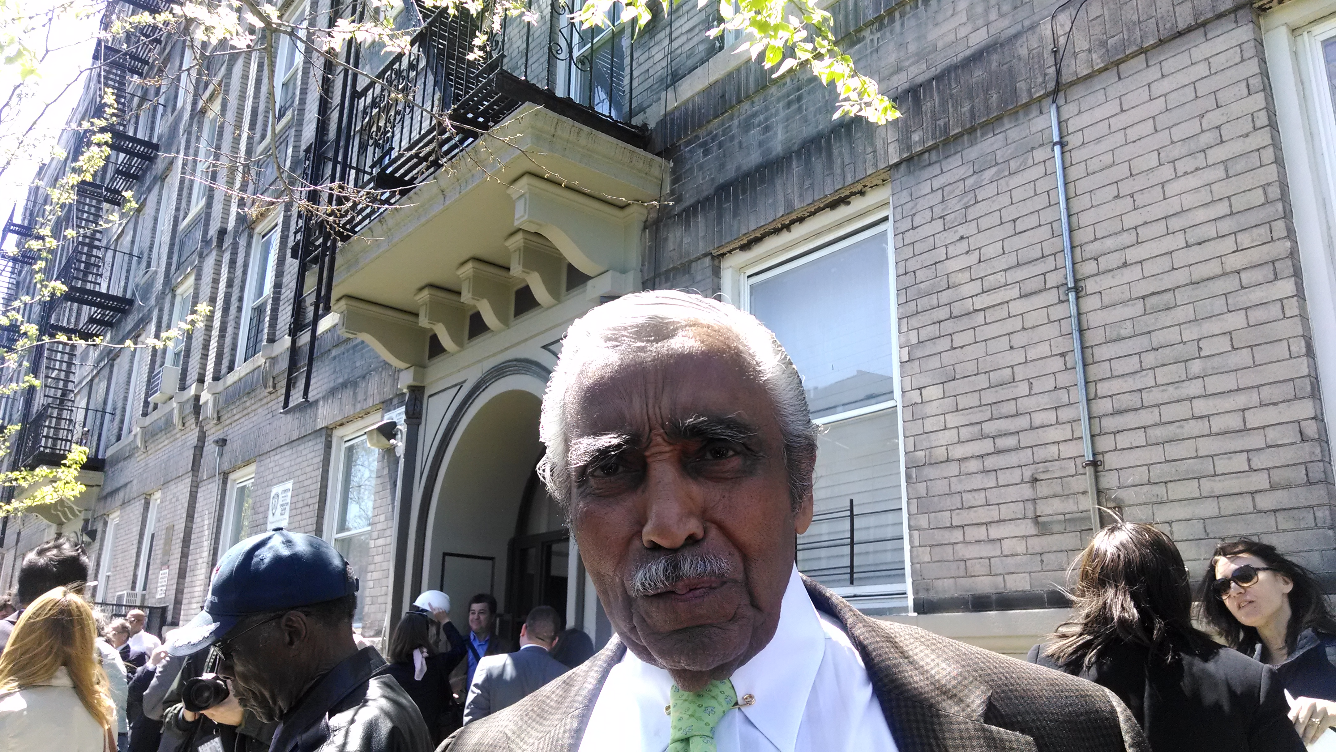 Charlie Rangel in the Bronx today.