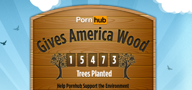 Pornhub took advantage of every pun imaginable, so that you didn't have to just think it. (Screengrab via Pornhub)