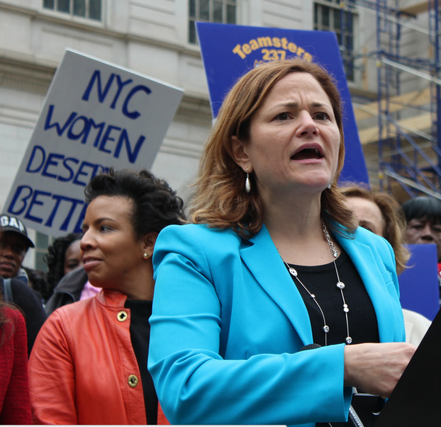 Melissa Mark-Viverito speaks at equal pay rally.