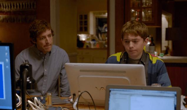 Richard and his teenage nemesis, the Carver. (Screengrab via HBO)
