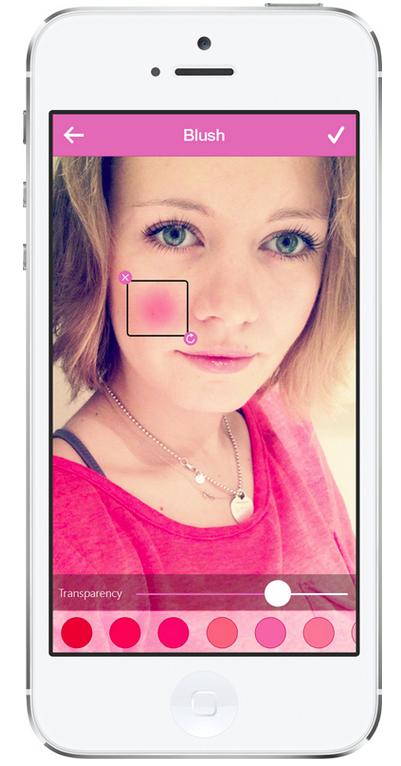 Just buying some blush might be easier. (Screenshot via Selfie-app.com)