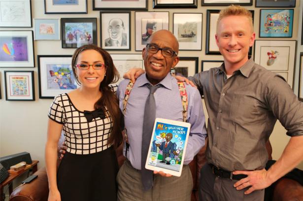 Al Roker poses with fellow app creators Katie Linendoll and Steve Lunny. (Facebook)
