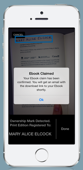 What if someone tries to use the app to steal books from a physical store? Well, they're probably just going to be arrested. (Screengrab via Bitlit)