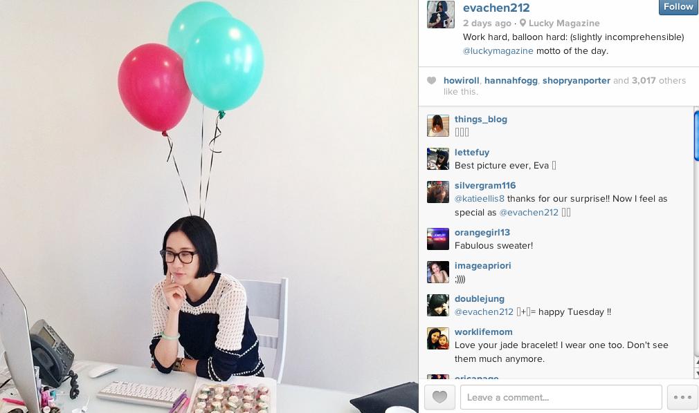 Eva Chen's Instagram