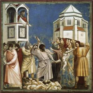'The Massacre of the Innocents' (circa 1305) by Giotto, in the Arena Chapel in Padua, Italy. (Wikipaintings)