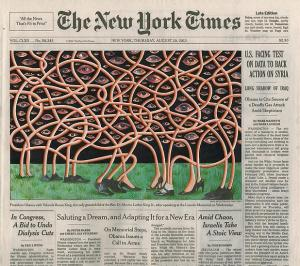 Fred Tomaselli, 'Aug. 29, 2013,' 2013. (Courtesy the artist/James Cohan Gallery)