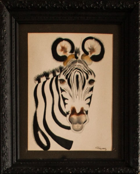 A zebra painting. (Photo by Emily Assiran)