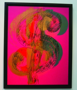 'Dollar Sign' (from a set of 12) (1982) by Andy Warhol. (Photo by Danny Martindale/FilmMagic)