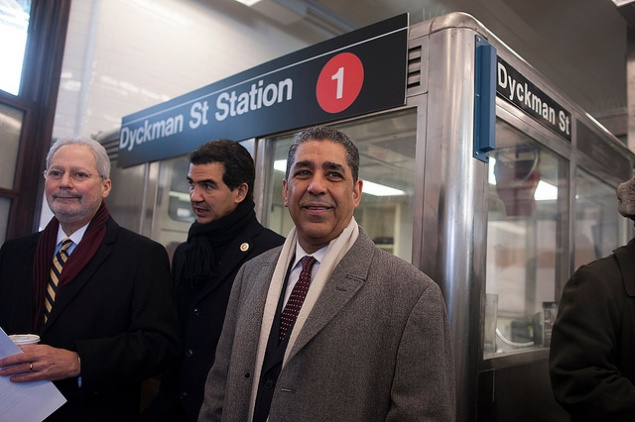 State Senator Adriano Espaillat with his close ally, Councilman Ydanis Rodriguez. (Photo: William Alatriste/NYC Council)