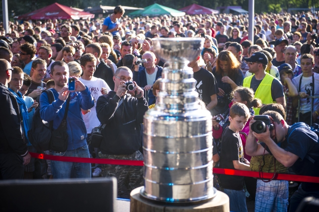 The Stanley Cup. (Jure Makovec/AFP/GettyImages)