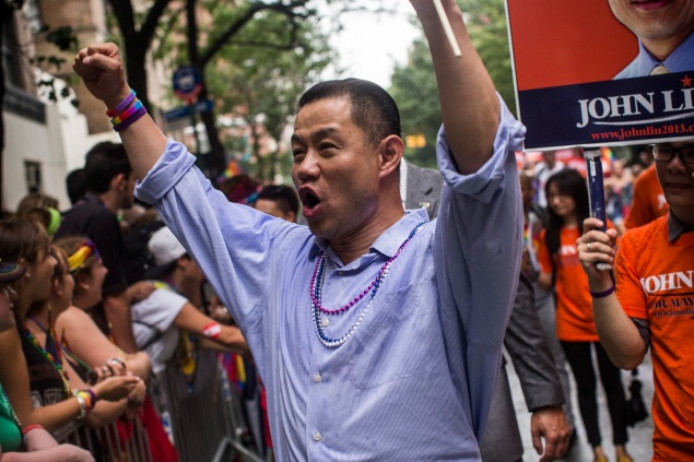 John Liu on the campaign trail last year. (Photo: Andrew Burton/Getty Images)