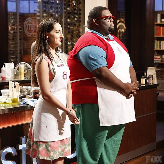An unlikely pairing on MasterChef. (Fox)