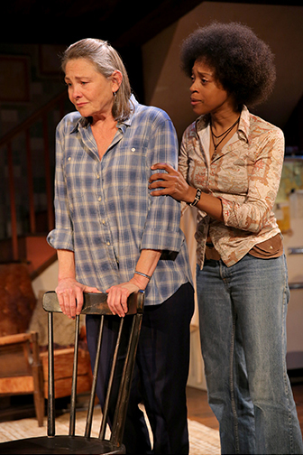 Cherry Jones, left, and Cherise Boothe in When Were Young and Unafraid. (Photo by joan Marcus)