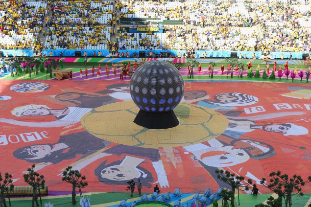 Opening Ceremony of the 2014 World Cup (Photo via Getty Images)