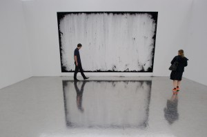 A work by Harold Ancart in Art Unlimited. (Photo by Sebastien Bozon/AFP/Getty Images)