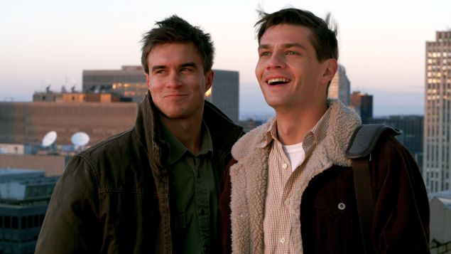 Rob Mayes, left, and Trent Ford in Burning Blue.