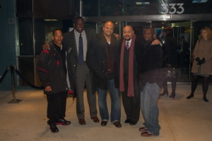 The Central Park Five at a 2012 screening of the Ken Burns documentary made about the case. (Photo courtesy of DOC NYC)