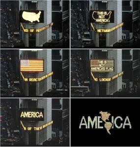 Alfredo Jaar, 'A Logo for America,' 1987. (Courtesy the artist)