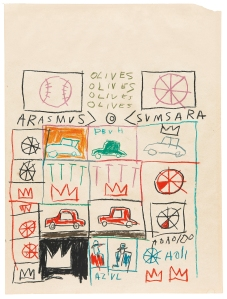 'Untitled (Grid)' (1981) by Basquiat. (The Estate of Jean--Michel Basquiat / ADAGP, Paris / ARS, New York 2014)