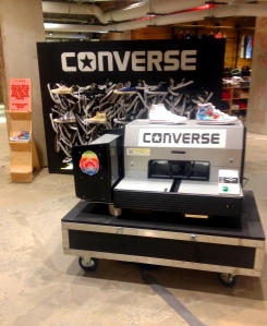 The store offers a real-time Converse printer. (Meredith Carey)