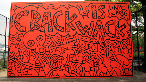 Crack is Wack (1986) by Keith Haring. (Photo via Creative Commons)