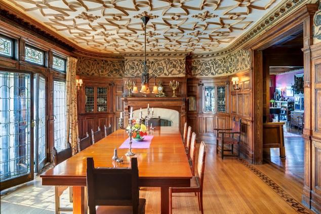 The dining room at the Inn at Hudson.