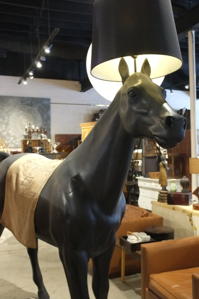 This is a horse lamp.