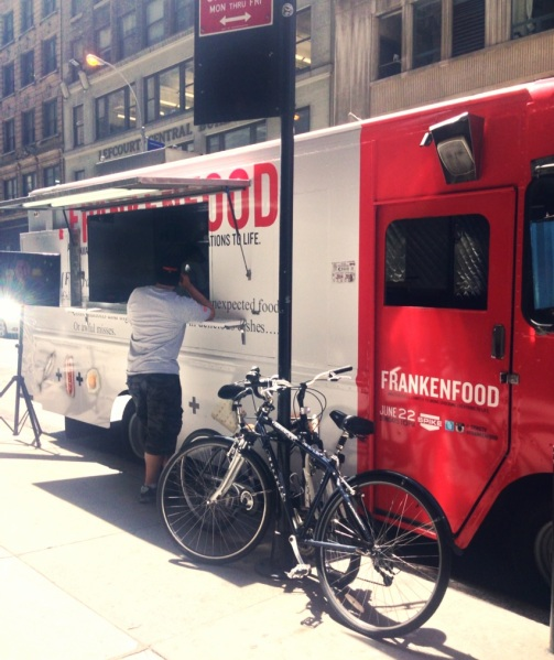 "This ""Frankenfood"" food truck is all over Midtown West today (Photo: Esti Jungreis)"