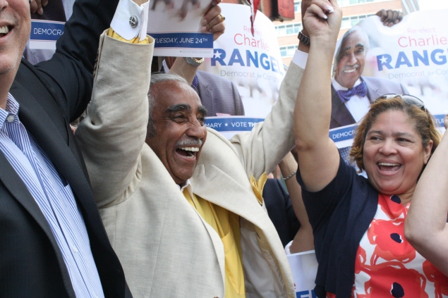 Congressman Charlie Rangel's successful re-election campaign included a major spike in fund-raising emails. (Photo: Ross Barkan)